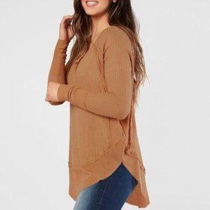 Free People Catalina Thermal Top Warm Sands